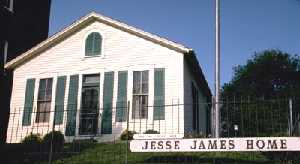 Jesse James home in St. Joseph, Missouri