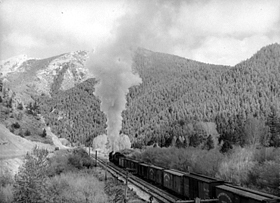 Northern Pacific Train in Washington.