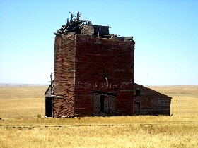 Okaton, South Dakota Grain Elevator, July 2006, Kathy Weiser