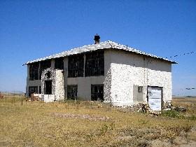The old Okaton School, July 2006, Kathy Weiser