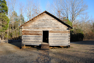 The reconstructed Shiloh church.