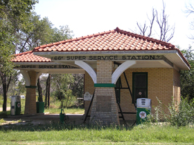 Route 66 Restored Gas Station in Alanreed, Texas