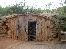 Charles Goodnight house in Palo Duro Canyon, Texas