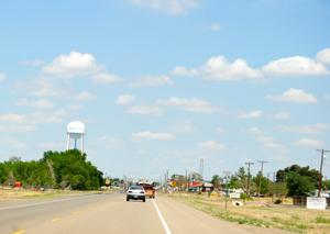 Entering Fritch, Texas