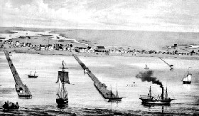 Port of Indianola, Texas, 1850
