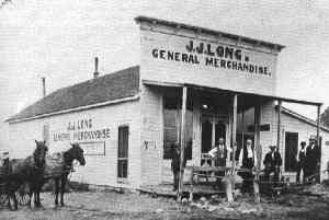 Historical Photograph of Mobeetie General Store