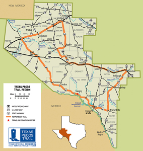 Texas Pecos Trail Map