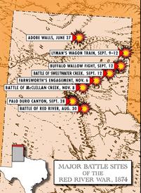 Red River War Battles