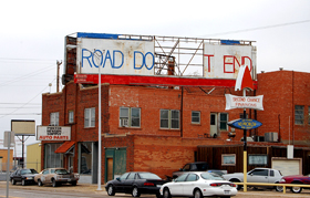 Road Does Not End Sign, Amarillo, Texas