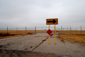 Route 66 ends at the Amarillo Airport