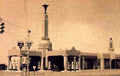 U Drop Inn Postcard, Shamrock, Texas