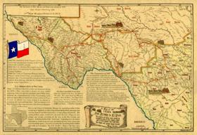 Southwest Texas Road Map, 1850