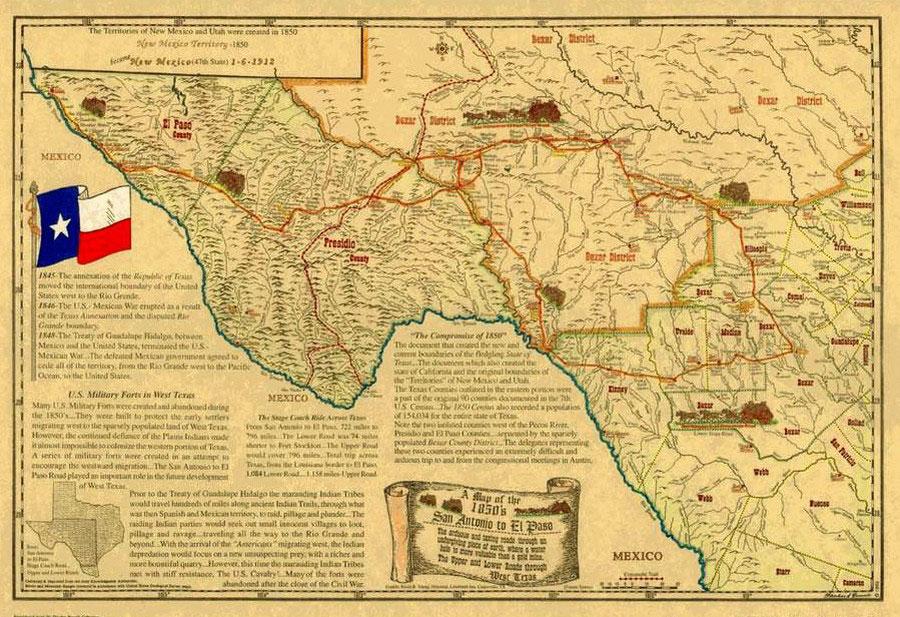 San Antonio El Paso Road History Amp Information