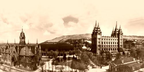 Mormon Temple Grounds, 1912