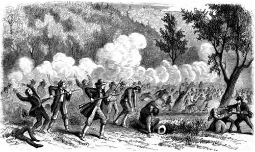 Mountain Meadows Massacre drawing