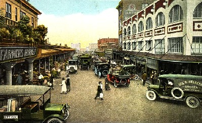 Pike Place Market vintage postcard