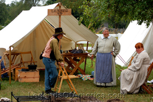Laundress exhibit at Old World Wisconsin, 2014.
