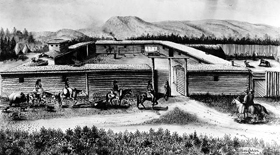 Fort Bridger drawing.