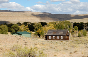 Church at Fort Steele, Wyoming, Sept 2009, Kathy Weiser