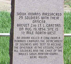Grattan Massacre, Wyoming Marker