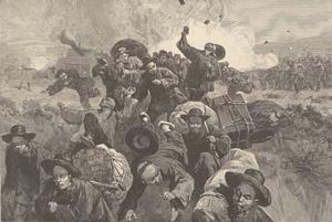Rock Springs Wyoming Riot 1885 - Harpers Weekly