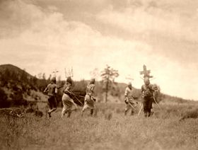 Apache Dancers, Edward S. Curtis, 1906