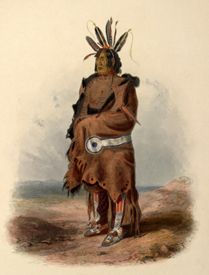Arikara Warrior by Karl Bodmer