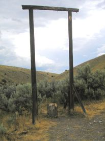 Bannock, Montana Gallows