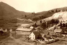 Camp Sheridan, Yellowstone, Wyoming about 1900