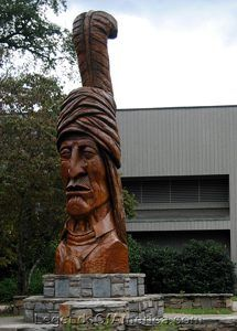 Statue of Sequoyah in North Carolina. Photo by Kathy Weiser-Alexander.