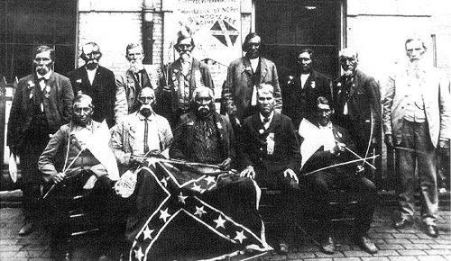 Cherokee Civil War Veterans in 1903