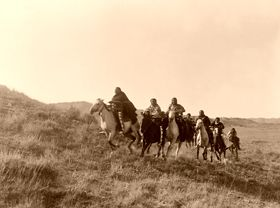 Cheyenne on horses, Edward S. Curtis, 1910