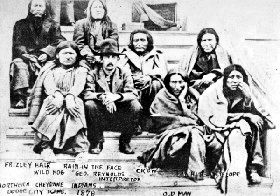 Cheyenne Indians held prisoners in County Jail in Dodge City, Kansas