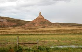 Chimney Rock in Nebraska, Kathy Weiser.