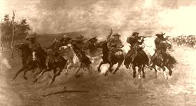 Cowboys Galloping, by Frederic Remington