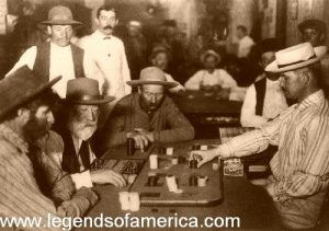 Playing Faro in an Arizona Saloon in 1895