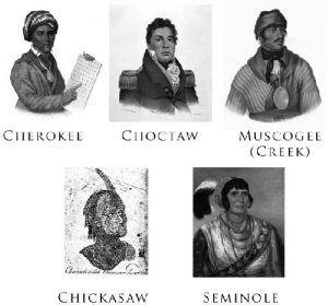 The Five Civilized Tribes Courtesy Wikipedia