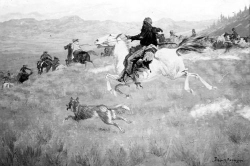 Gathering of the Trappers, 1904, Frederic Remington