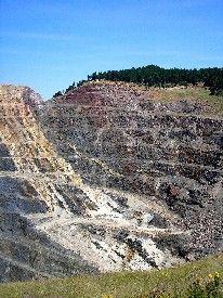 Homestake Mine Open Cut Today, Kathy Weiser.