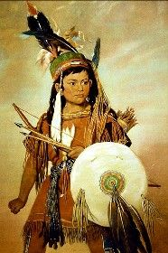 Native American Boy, painting by George Catlin