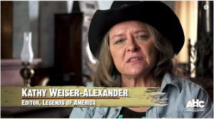 "Legends of America Founder & Editor Kathy Weiser-Alexander discusses Bill Doolin & the Oklahombres on the American Heroes Channel's ""Gunslingers"""