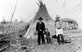 Kiowa Teepee in Oklahoma in 1937, courtesy Marquette University Libraries