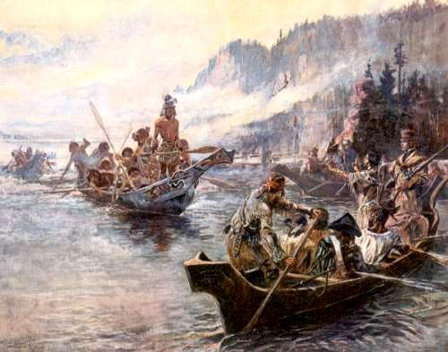 Lewis and Clark on the Lower Columbia River