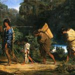 The Choctaw were removed west of the Mississippi River starting in 1831, painting by Alfred Boisseau, 1846
