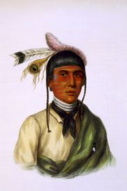 No-Tin, a Chippewa chief, by John T. Bowen, 1842.