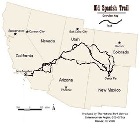 Old Spanish Trail Map