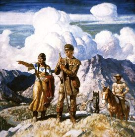 Sacagawea guided Lewis and Clark on their expedition  of 1804-06