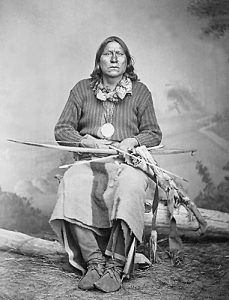 Chief Satanta of the Kiowa tribe.