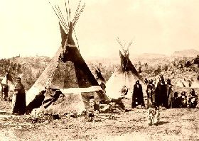 Shoshone Camp, about 1900