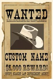 Custom Wanted Poster